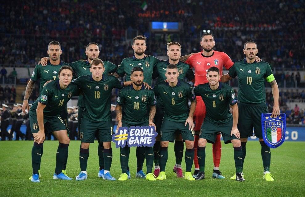 Italia-Grecia, la Nazionale in maglia verde