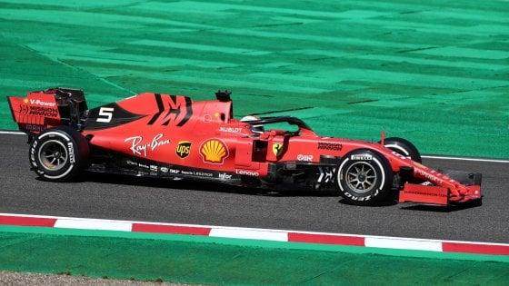F1, Gp Giappone: prima fila tutta Ferrari, Vettel in pole davanti a Leclerc