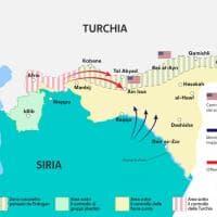 Offensiva dell'esercito turco in Siria: la mappa del fronte