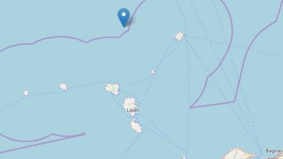 Terremoto: scossa di magnitudo 3,8 al largo delle isole Eolie