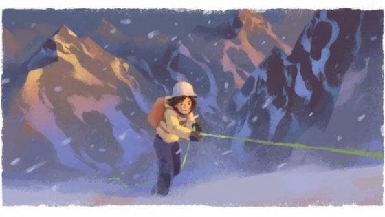 Google: un doodle per Wanda Rutkiewicz, la donna che scalò l