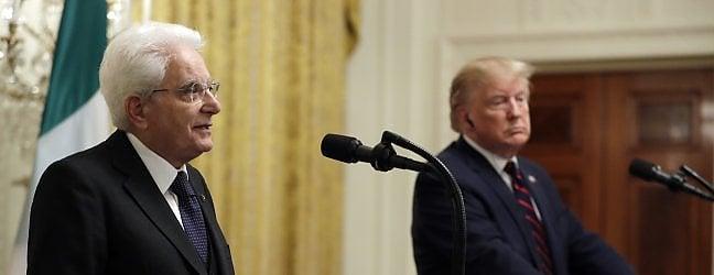 """Mattarella da Trump, subito scontro sui dazi: """"Collaborazione, basta ritorsioni"""" video Il presidente Usa chiede più soldi per la Natodal nostro inviato CONCETTO VECCHIO"""