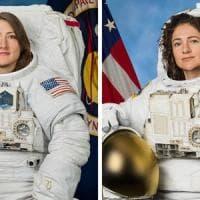 Passeggiata spaziale tutta al femminile, ecco il primo selfie con la tuta