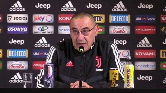 """Juventus, Sarri: """"Lo scetticismo? Ci convivo da sempre. La vittoria sull'Inter è già il passato"""""""