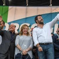 """Centrodestra in piazza, Salvini: """"Vinciamo in tutte le regioni e mandiamo questo governo a..."""
