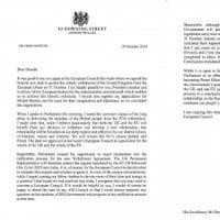 Brexit: Johnson non ha firmato lettera con cui chiede rinvio all'Ue