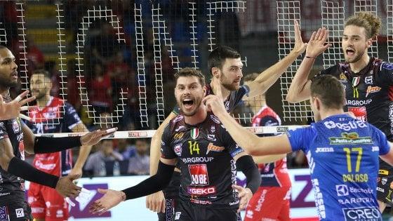 Superlega, Perugia vince col brivido. Civitanova, Trento e Cuneo ok