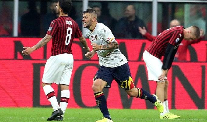 Pioli, partenza con beffa al 92': Milan-Lecce 2-2