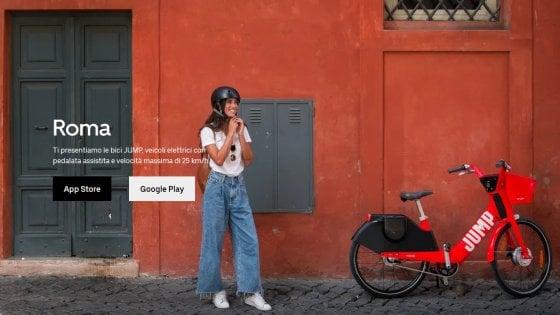 Uber punta sulle due ruote |  a Roma c' è Jump |  la bici elettrica in sharing che sfida il