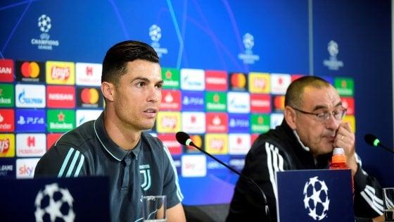 """Champions, Cristiano Ronaldo: """"Pallone d'Oro? Conta vincere con la Juve"""". Sarri: """"Dopo il 700° gol già pensava agli 800..."""""""