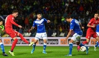 Brescia-Fiorentina 0-0: grave infortunio per Dessena
