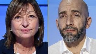 Donatella Tesei (centrodestra) e Vincenzo Bianconi (Pd-M5s)