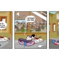 Paputsi - La striscia con le stringhe Esce: la raccolta del fumetto pubblicato su Scarp de' tenis