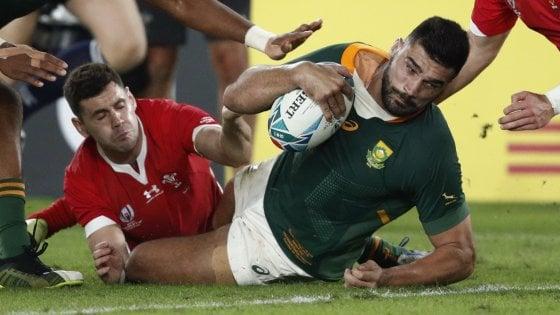 Mondiali di rugby, batticuore Sudafrica: supera il Galles e raggiunge lInghilterra in finale