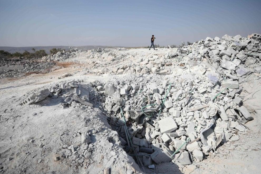 Quello che resta del luogo della morte del califfo al Baghdadi