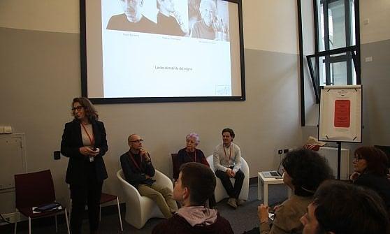 Un momento dell'incontro al Festival della Crescita. Da sinistra a  destra: Luisa Cozzi, Paolo Rossetti, Simonetta Ferrante e Matteo  Pettinaroli