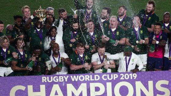 Rugby, Mondiali: il Sudafrica è campione, battuta lInghilterra 32-12