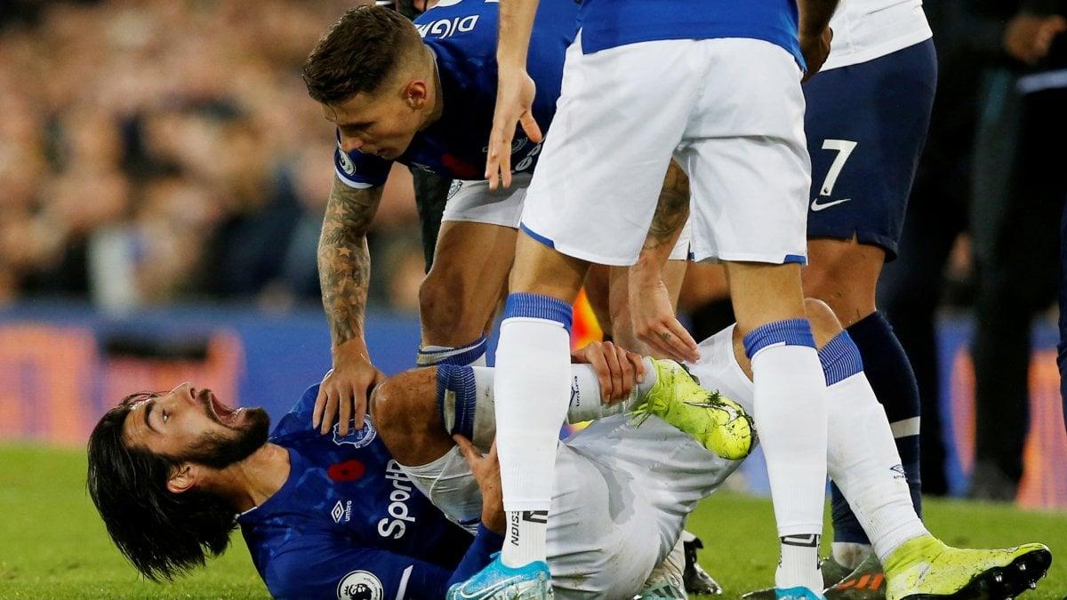 Inghilterra, Everton-Tottenham: infortunio choc per André Gomes ...