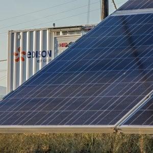La batteria di accumulo abbinata all'impianto fotovoltaico Edison di Altomonte