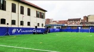 """""""Vincere da grandi"""" a Torino. Inaugurazione di un moderno campo di calcio a 8 al Cottolengo"""