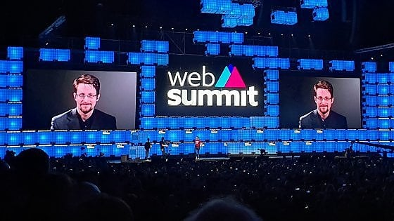 """Web Summit, l'ora di Snowden: """"Ormai l'abuso della privacy è stato legalizzato. Dobbiamo riconquistare Internet"""""""
