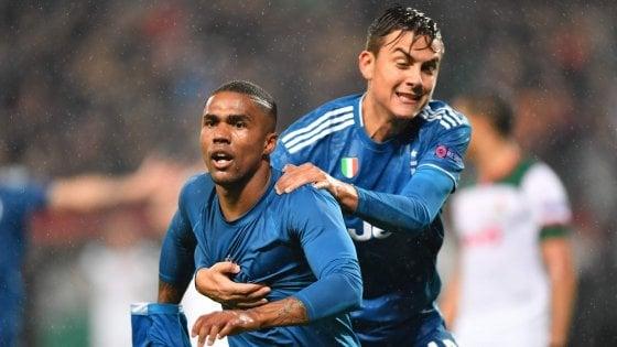 Lokomotiv Mosca-Juventus 1-2: decide Douglas Costa al 93', bianconeri agli ottavi