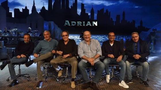 'Adrian Live', 3,8 milioni di spettatori per il ritorno di Celentano