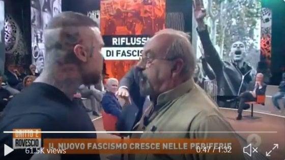"""Rissa in tv tra Vauro ed estremista di destra, il Pd: """"Mai in trasmissioni che incitano all'odio"""""""