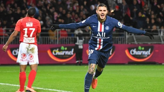 Francia, il Psg vince a Brest: Icardi entra e decide