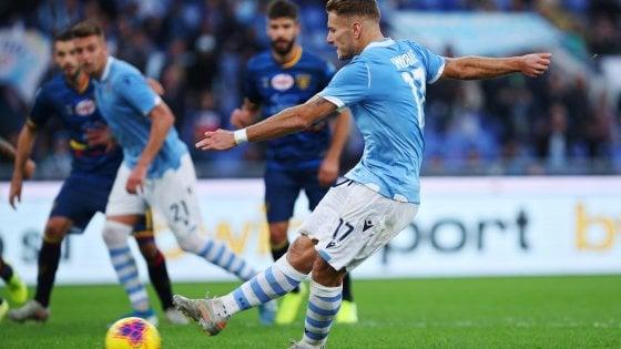 Lazio-Lecce 4-2, tra Var e rigori i biancocelesti colpiscono ancora