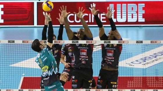 Volley, Superlega: primo big match a Civitanova: Perugia sconfitta 3-1
