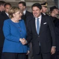 """Ilva, Conte a Merkel: """"Cooperiamo nel settore dell'acciaio. E sui migranti serve la..."""