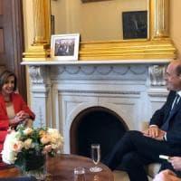 """Usa, Zingaretti vede la speaker della Camera Pelosi: """"L'Italia si è rimessa sui binari..."""
