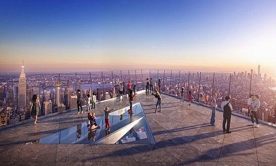 """New York. Ecco """"The Edge"""", la terrazza sul vuoto per vedere la Mela più in alto"""