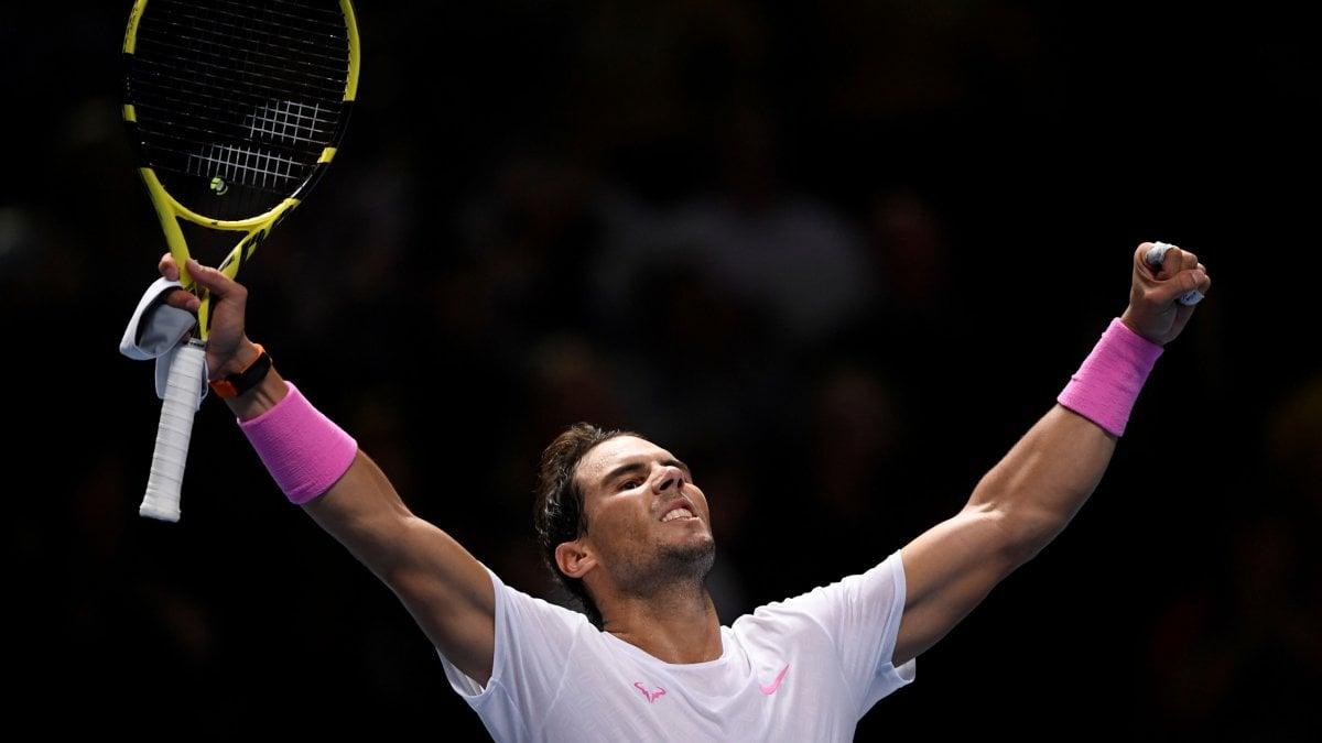 Tennis, Atp Finals: rimonta incredibile di Nadal, Medvedev cede sul più bello