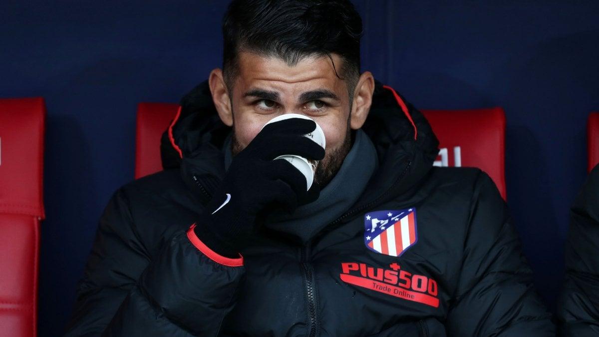 Atletico Madrid: ernia del disco, lungo stop per Diego Costa