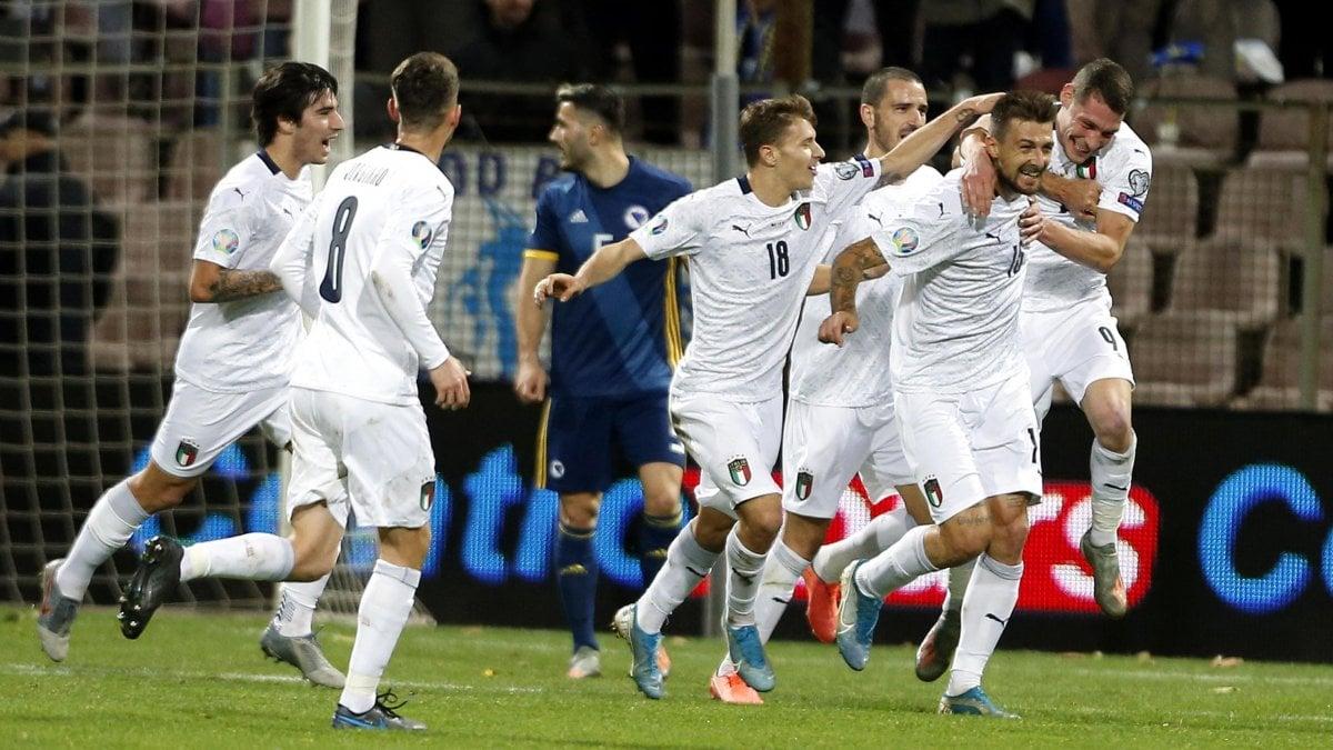 Euro 2020, Bosnia-Italia 0-3: Mancini nella storia, decima vittoria di fila
