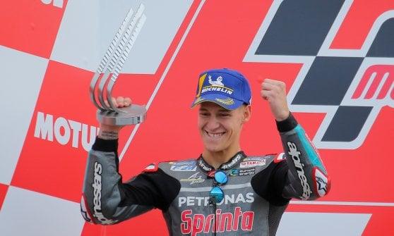 MotoGp, Valencia: Marquez vince anche l'ultima gara, Quartararo e Miller sul podio