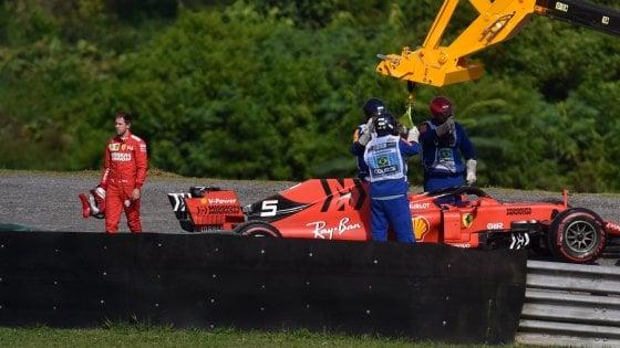 Gp Brasile, caos Ferrari: Vettel e Leclerc si 'eliminano' a vicenda. Vince Verstappen davanti a Gasly