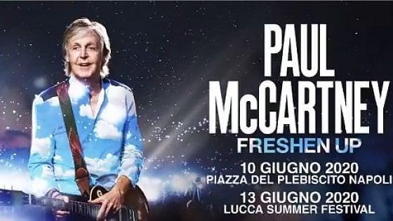 Paul McCartney annuncia due date in Italia nel 2020 a Napoli e Lucca