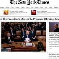 Impeachment, le aperture dei giornali statunitensi sulle audizioni di Sondland