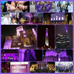 Giornata mondiale contro il tumore del pancreas, le città si illuminano di viola
