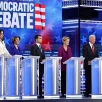 """Usa, ad Atlanta il quinto dibattito tra i candidati dem: """"Trump è un bugiardo, sì..."""