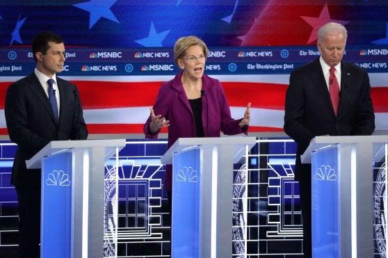"""Usa, ad Atlanta il quinto dibattito tra i candidati dem: """"Trump è un bugiardo, sì all'impeachment"""""""