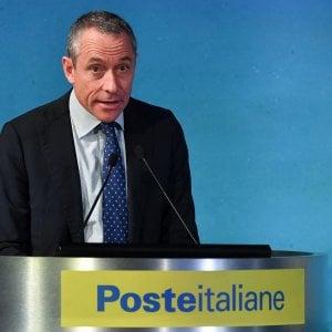 L'Ad di Poste Italiane, Matteo Del Fante, durante il terzo forum Multi Stakeholder, organizzato da Poste Italiane, Roma 19 novembre 2019.