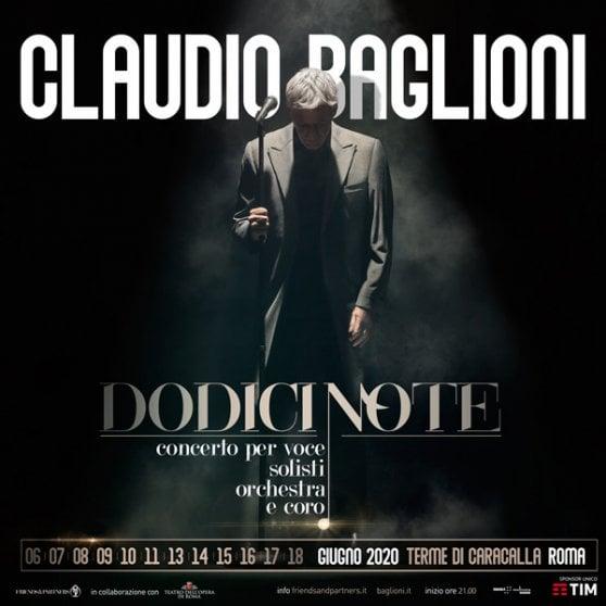 Claudio Baglioni: a giugno dodici concerti alle Terme di Caracalla