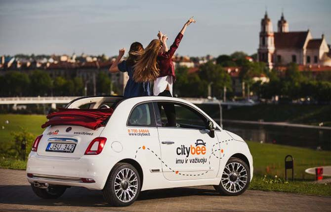 Fiat 500 sbarca nel car sharing dei Paesi Baltici