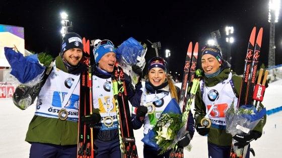 Biathlon, Cdm: Italia vince staffetta mista in Svezia