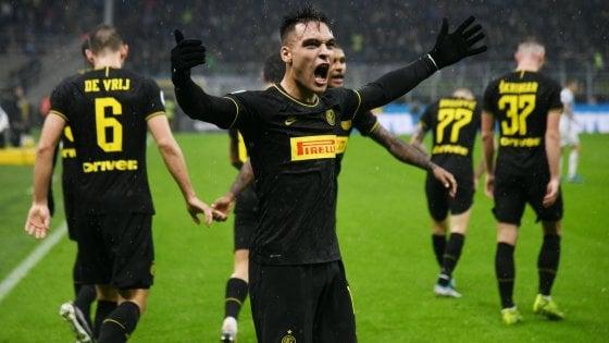 Inter-Spal 2-1, Lautaro Martinez firma vittoria e sorpasso in vetta alla Juve
