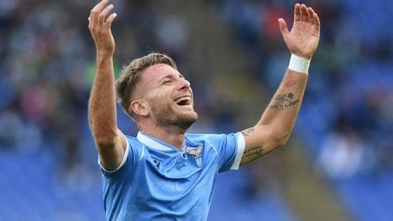 Lazio-Udinese 3-0, doppietta di Immobile e gol di Luis Alberto: sesta vittoria di fila e terzo posto blindato